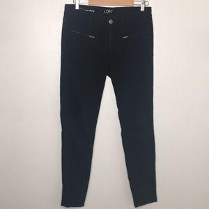 Loft Black Super Skinny Jeans Sz 28/6